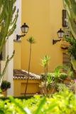 Południowa hiszpańska ulica Fotografia Royalty Free
