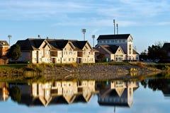 Południowa Jeziorna wioska obrazy royalty free
