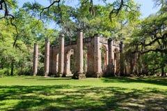 Południowa Karolina Sheldon kościół ruiny obrazy royalty free