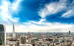 Południowa strona Londyn, powietrzny panoramiczny widok przy półmrokiem Obraz Royalty Free