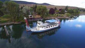 Południowa Thompson rzeka - Okanagan Paddleboat zdjęcie royalty free