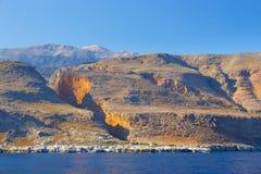 Południowe wybrzeże Crete Zdjęcia Stock