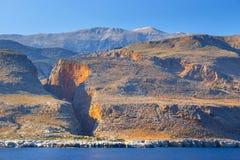 Południowe wybrzeże Crete, Grecja Zdjęcia Royalty Free