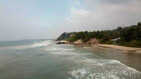 Południowe Wybrzeże Sri Lanka Surfspot dzwonił Czarny Piasek zdjęcie royalty free
