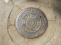 Południowego Kalifornia Manhole pokrywa Zdjęcie Stock