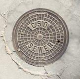 Południowego Kalifornia Manhole pokrywa Obraz Royalty Free