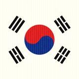 Południowego Korea flaga Zdjęcia Stock