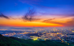 Południowego Korea linia horyzontu Seul najlepszy widok Południowy Korea Zdjęcie Stock