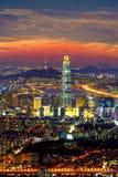 Południowego Korea linia horyzontu Seul najlepszy widok Południowy Korea Zdjęcie Royalty Free