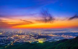 Południowego Korea linia horyzontu Seul najlepszy widok Południowy Korea Obrazy Royalty Free