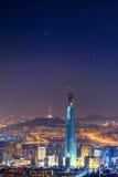 Południowego Korea linia horyzontu Seul najlepszy widok Południowy Korea Fotografia Stock