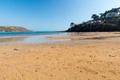 Południowi piaski Plażowy Salcombe Fotografia Royalty Free