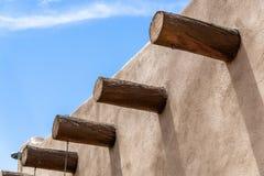 Południowo-zachodni adobe architektura zadasza starego budynek fotografia stock