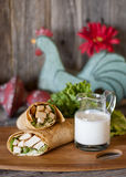 Południowo-zachodni kurczaka opakunek zdjęcia stock