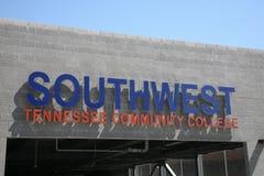 Południowo-zachodni Tennessee college społeczny Parkuje Gargage fotografia royalty free