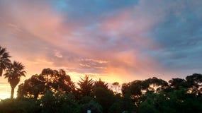 Południowy australijczyka Adelaide słońca set Obraz Stock