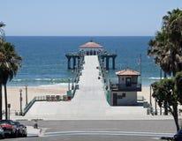 południowy California plażowy molo Manhattan obrazy royalty free