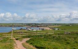 Południowy Devon wybrzeża sceny kierunek UK Thurlestone Anglia Obraz Stock
