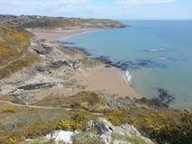 Południowy Gower wybrzeże Zdjęcia Royalty Free