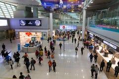 Południowy Korea, lotnisko międzynarodowe Incheon inside Zdjęcie Stock