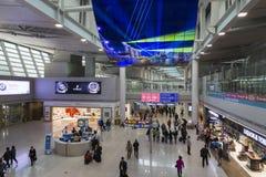 Południowy Korea, lotnisko międzynarodowe Incheon inside Zdjęcia Stock