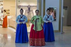 Południowy Korea, lotnisko międzynarodowe Incheon - kolorowy przedstawienie w na zdjęcie stock