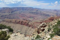 Południowy obręcz w Uroczystego jaru parku narodowym arizonan zdjęcie stock
