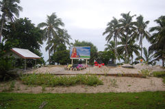 Południowy Pacyficznej wyspy chrześcijanina cmentarz Zdjęcia Royalty Free