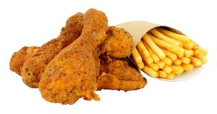 Południowy pieczony kurczak I francuzów dłoniaki Fotografia Stock