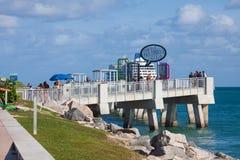 Po?udniowy Pointe molo w Miami pla?y zdjęcia royalty free