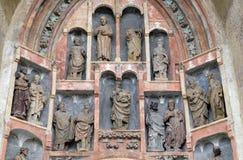 Południowy portal kościół St Mark w Zagreb, Chorwacja zdjęcia royalty free