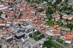 Południowy Szwajcaria: Airshot od Locarno centrum obrazy royalty free