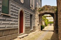Południowy Szwajcaria: Ascona miasto w kantonie Ticino przy Jeziornym Magg zdjęcie royalty free
