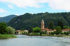 Południowy Szwajcaria: Rejs od Lugano miasta Ponte Tresa fotografia stock