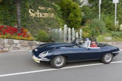 Południowy Tyrol Rallye 2016_Jaguar typ błękit Obraz Royalty Free
