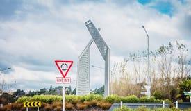 Południowy Wejściowy sposób w miasto Whanganui zdjęcie royalty free