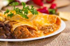 Południowy zachód wołowiny enchilada. Obraz Stock