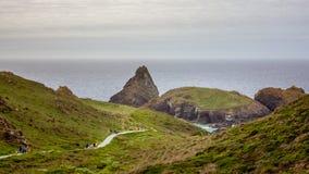 Południowy zachodni England seascape fotografia royalty free