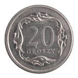 Połysk 20 groszy moneta Zdjęcie Royalty Free