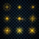 Połysk gwiazd złociste błyskotliwość błyskają ilustracja wektor