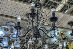 Połysk i lampy eksponujący w sklepie dla sprzedaży Obrazy Royalty Free