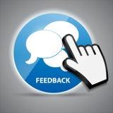 Połysk ikony glansowana komputerowa informacje zwrotne z myszą Zdjęcie Royalty Free