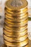 Połysk monet zamknięty up Fotografia Stock