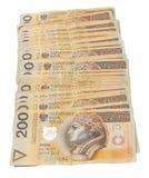 Połysk sterta złoty 200 notatek Obrazy Royalty Free