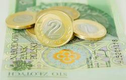 Połysk złoty dwa monety Obraz Stock