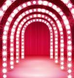 Połysku korytarz Lekki przejście dla Twój występu ilustracji