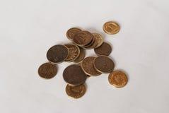 Połysku pięć monety Zdjęcie Royalty Free