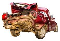 Pośladek czerwieni wypadek samochodowy zdjęcia stock