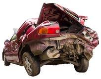 Pośladek czerwieni wypadek samochodowy obraz stock