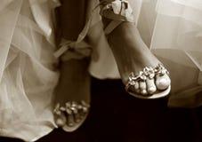 poślubić butów. Zdjęcie Stock